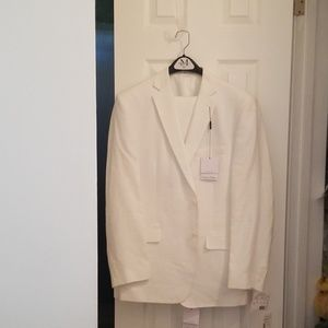Mens Calvin Klein suit size 40 Regular  100% Linen
